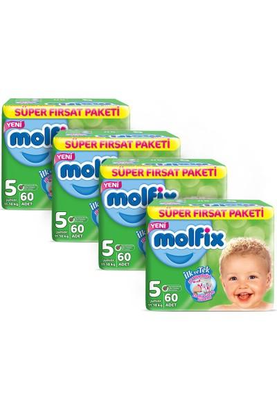 Molfix Bebek Bezi 5 Beden Junior 2 Aylık Fırsat Paketi 240 adet