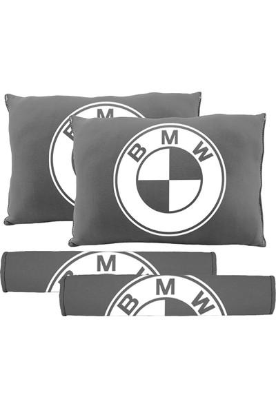 BT BMW Logolu Boyun Yastığı Ve Kemer Pedi Gri