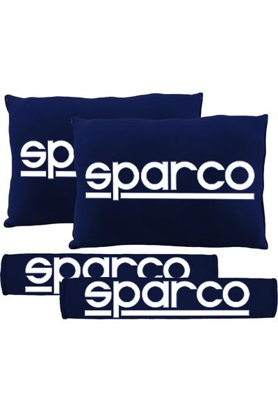 BT Sparco Logolu Boyun Yastığı Ve Kemer Pedi Lacivert