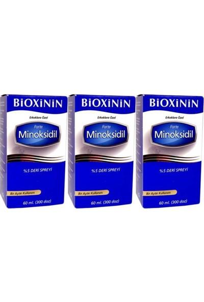 Bioxinin Forte Minoksidil %5 Deri Spreyi 60 ml 3 Adet