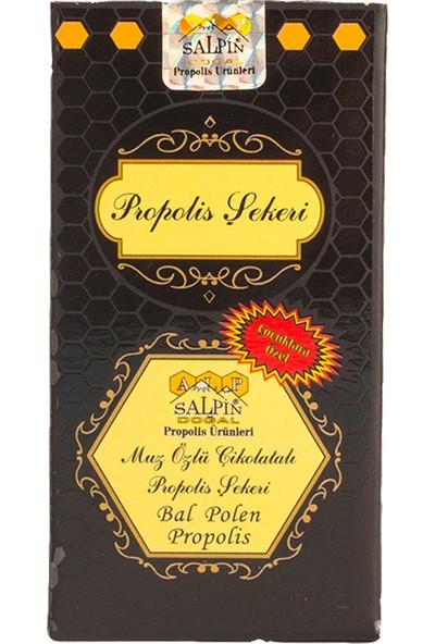 Salpin Muz Özlü Çikolatalı Propolis Şekeri 80G | ±70 Adet
