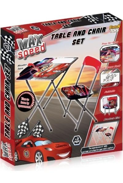 Furkan Toys Max Speed Cars Masa Sandalye Seti