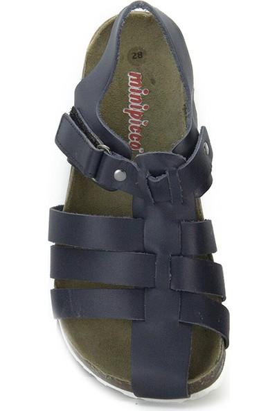 Minipicco Erkek Çocuk Lacivert Deri Sandalet