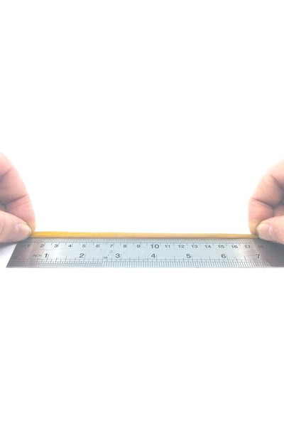 Sanse Geniş Paket Ambalaj Lastiği 180 x 3 mm 1kg Kasa Lastiği 650 Adet