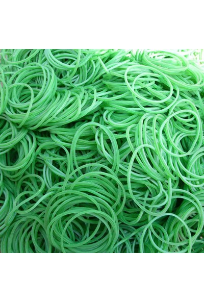 Ekoset Yeşil Paket Ambalaj Lastiği Toka Maydanoz Para Lastiği 70 mm 1kg