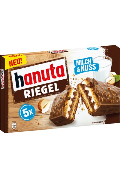 Hanuta Riegel Milch & Nuss 5 Riegel 34.5gr