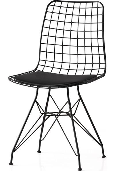Yıldız Mobilya Ve Aksesuar Kütük Masa Ceviz Tel Sandalye Takımı