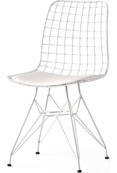 Yıldız Mobilya Ve Aksesuar Tel Beyaz Sandalye Mutfak&Yemek Odası Ve Sandalyesi
