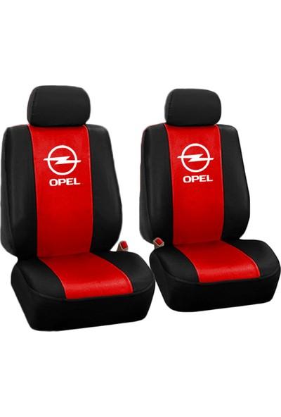 BT Opel Logolu Ön-Arka Special Oto Koltuk Kılıfı Kırmızı