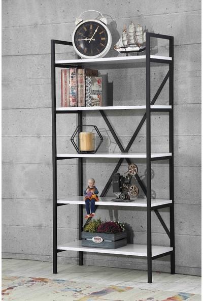 Esmahome Kitaplık Raf Ev - Ofis Rafı 5 Raflı Çok Amaçlı Raf 70 x 150 cm