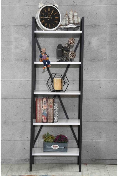 Esmahome Kitaplık Raf Ev - Ofis Rafı 5 Raflı Çok Amaçlı Raf 50 x 150 cm