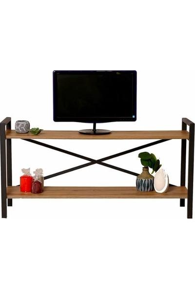Esmahome Tv Ünitesi Çok Amaçlı Raf 2 Raflı 35 x 120 cm Ceviz