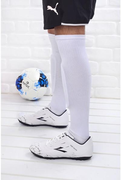 Lig Meteor Erkek Halı Saha Futbol Ayakkabısı Beyaz