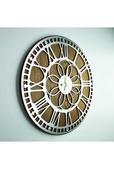 Kayra Tasarım Atölyesi Saat Papatya Silver 50 cm