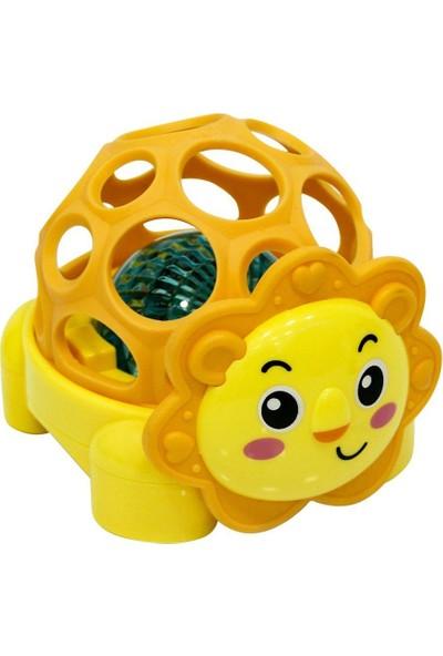 Bir-Can Pilli Çıngıraklı Işıklı ve Sesli Hayvan Figürü Bebek Oyuncağı