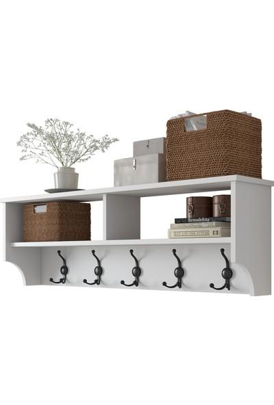 Rani P2 Modern Portmanto Duvar Askısı Beyaz Vestiyer