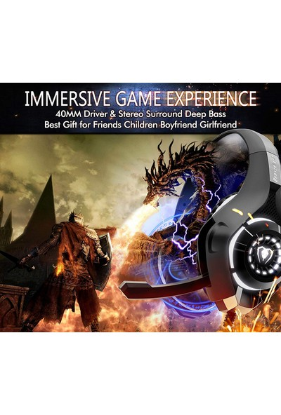 Beexcellent Ps4 Xbox One Pc Için Gürültü Izolasyon Mic ile Gaming Headset Kristal Stereo Surround Ses LED Işıkları