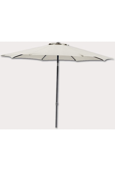 Drc 270 cm Bahçe Şemsiyesi Makaralı Bahçe Şemsiyesi Balkon Teras Şemsiyesi Naturel