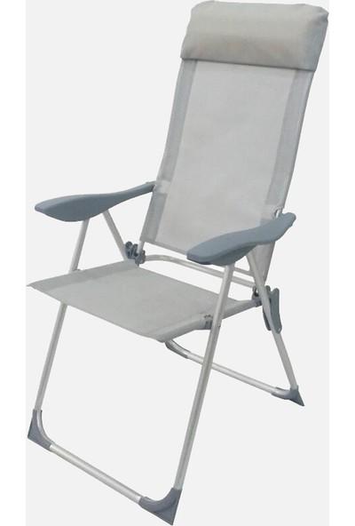 Sunfun Katlanır Metal Şezlong Havuz Şezlongu Deniz Sandalye Şezlong