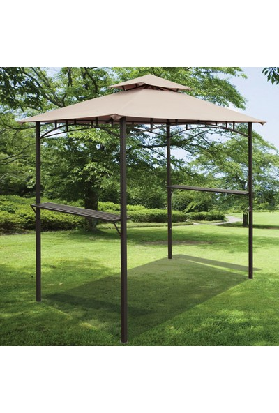 Sunfun Drc Gazebo Parti Çadırı Kahverengi Bahçe Gölgelik Bahçe Parti Çadır