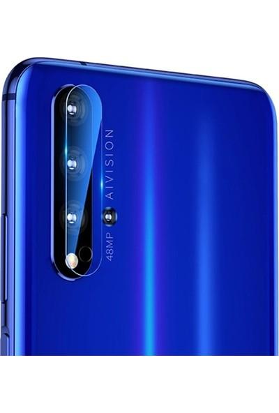 Ally Huawei Nova 5t Tempered Kamera Koruyucu Cam AL-31715 Şeffaf