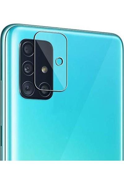Ally Samsung Galaxy A51 Tempered Kamera Koruyucu Cam AL31717 Şeffaf