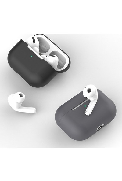 Ally Apple Airpods Pro İnce Slim Silikon Kılıf AL-31804 Siyah