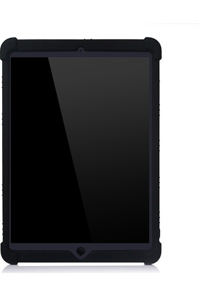 """Ally İPad 7 10.2""""/ İPad Air 3 10.5"""" Standlı Darbe Emici Silikon Kılıf AL-31838 Siyah"""