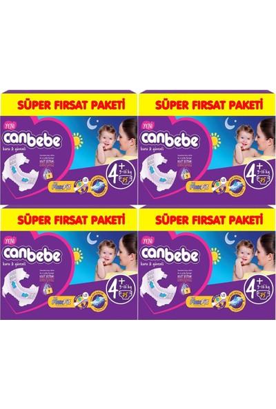 Canbebe Bebek Bezi 4+ Beden Maxi Plus 75 x 4 Adet