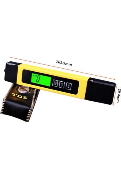 Tds Metre - Dijital Tds Ölçüm Cihazı - Termometreli + Pil ve Kılıfı ile Birlikte