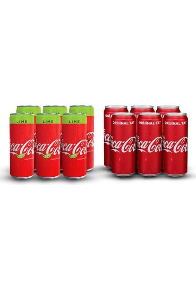 Coca-Cola 330 ml & Coca-Cola Lime 330 ml Karma Paketi (12'li)