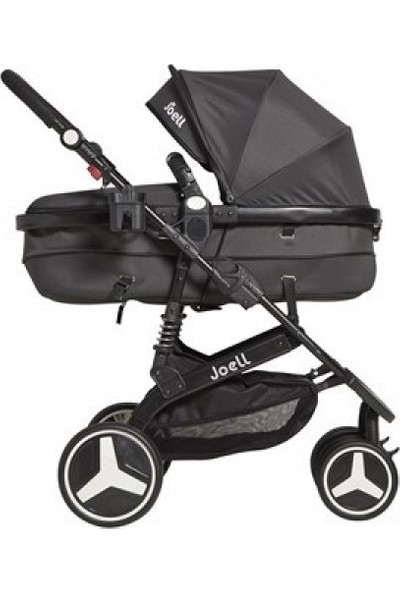 Joell Travel Sistem Bebek Arabası - Füme Siyah