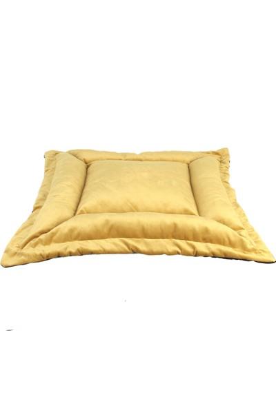 Renkli Ev Tasarım İzmir Model Köpek Yatakları 100 x 100 cm Sarı - Siyah