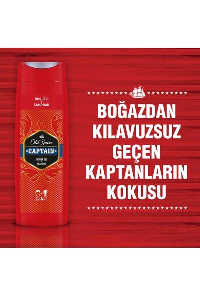 Old Spice Duş Jeli & Şampuan 400 ml Captain