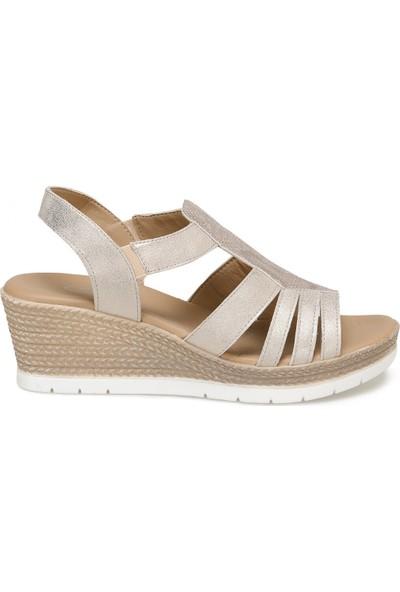 Polaris 91.150934.Z Altın Kadın Sandalet