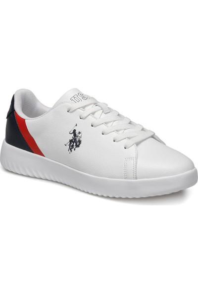 U.S. Polo Assn. Pross Beyaz Erkek Sneaker Ayakkabı