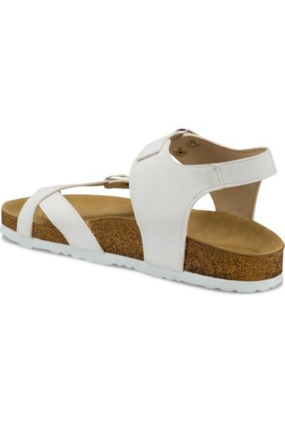 Polaris 315627.Z Beyaz Kadın Sandalet
