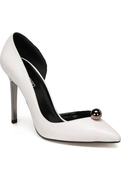 Butigo Cillian Beyaz Kadın Topuklu Ayakkabı