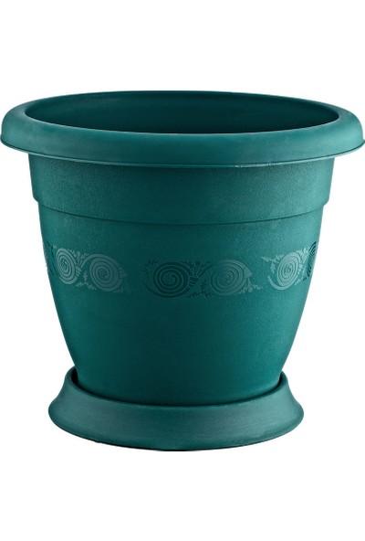 Plastart Lüx Saksı Yeşil 2,25 lt 3'lü