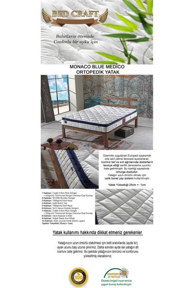 Bed Craft Monaco Blue Medico Yaylı Yatak 90x190