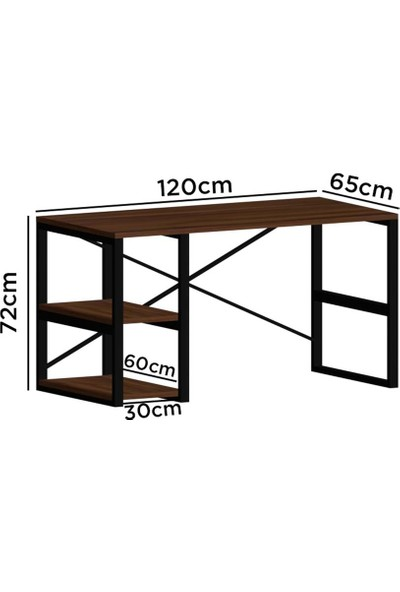 Evdemo Sude Metal Çalışma Masası Siyah