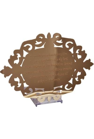 PartiPan Oyma desenli Nazar Duası Pleksi Ayna Gold