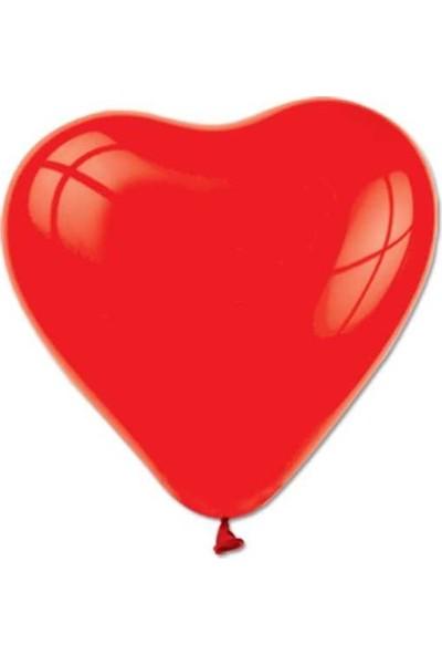 Kidspartim Kalp Modelli Kirmizi Balon 12 İnç