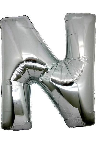 Tatlı Günler Folyo Balon Harf N Gümüş 16