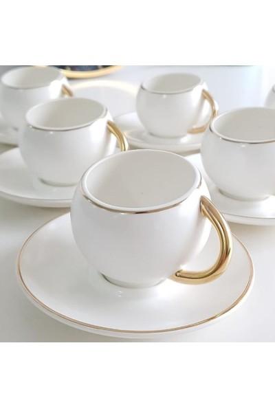 Acar Porselen 6'lı Fincan Takımı Beyaz CLK-010085-12
