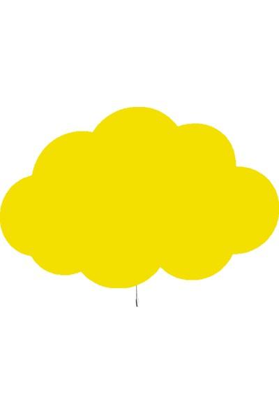 Tahtakurusu Tasarım Bulut Dekoratif Ahşap Lamba Sarı