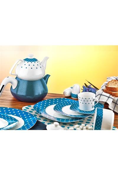 Evimsaray ES-915 Kare Porselen Kahvaltı Takımı - 36 Parça
