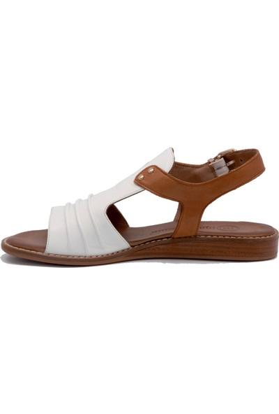 Mammamia D20Ys 1405 Beyaz Terlik Sandalet