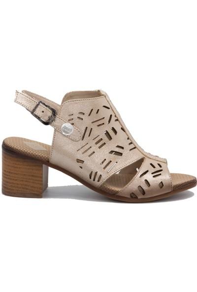 Mammamia D20Ys 1285 Bej Terlik Sandalet
