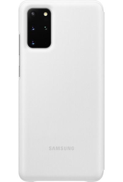 Samsung Galaxy S20 Plus LED View Kılıf Beyaz EF-NG985PWEGTR